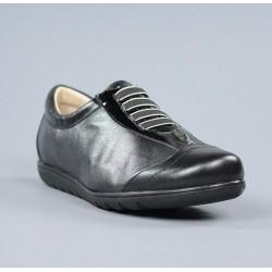 Zapatos sport negros cordones elásticos.16200