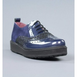 Zapatos blucher azules.17273