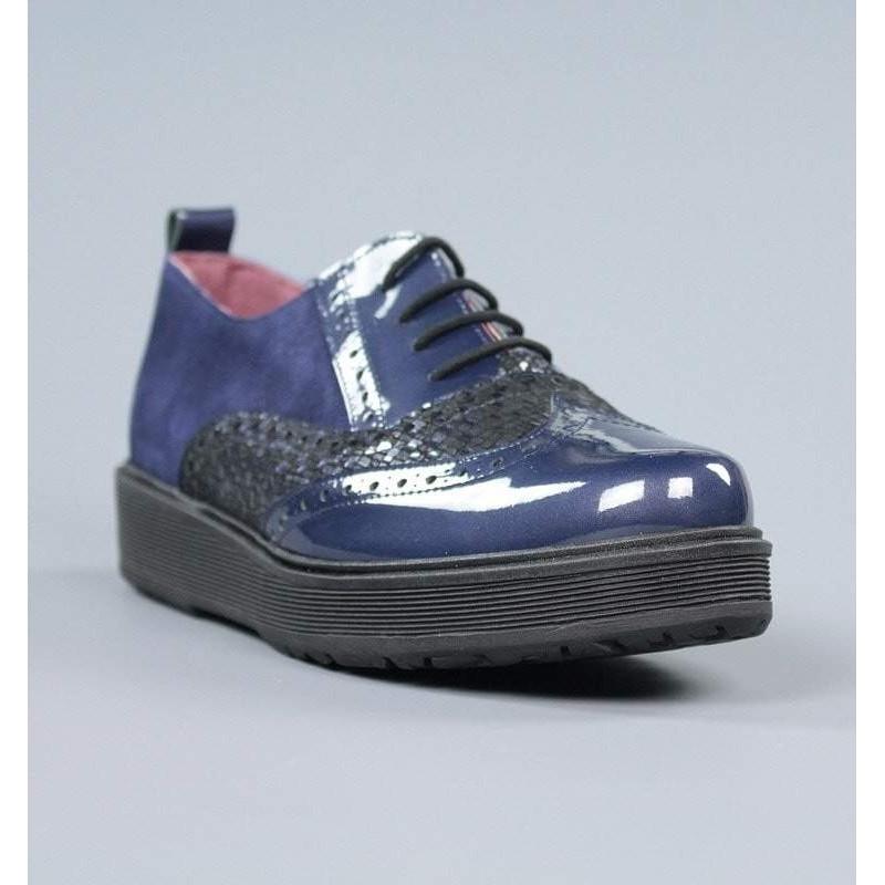 Zapatos blucher azules.17273
