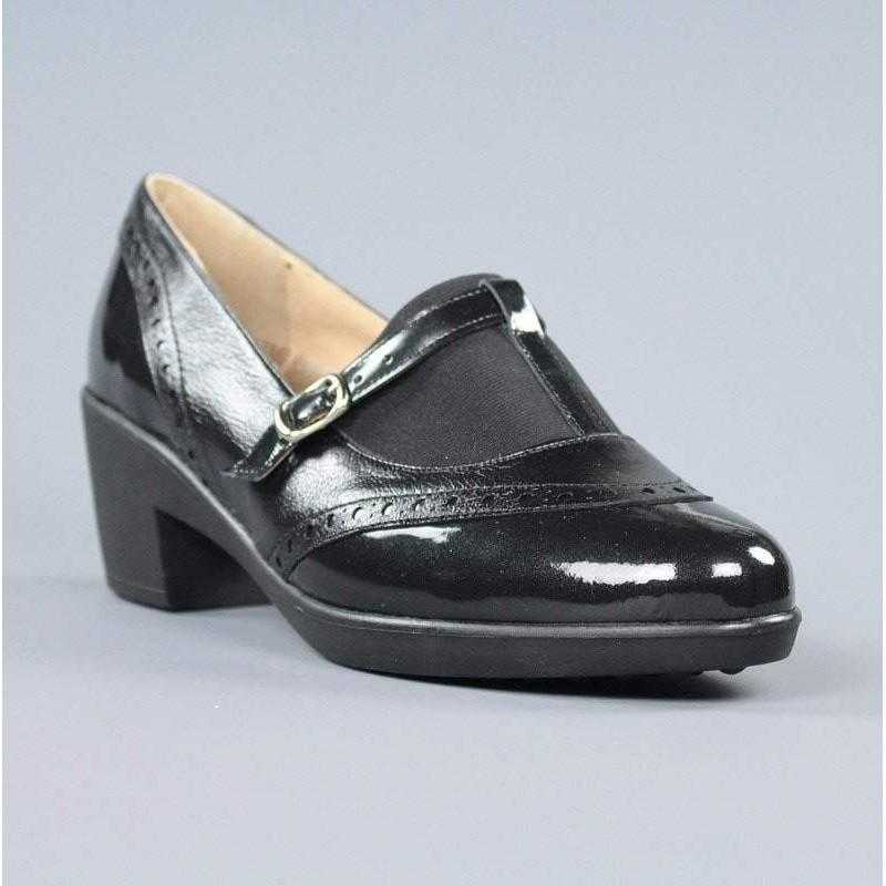 Zapato negro plantilla extraible.16545