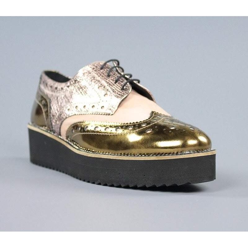 Zapatos nude blucher .60416