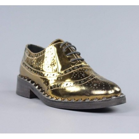 Zapatos dorados blucher.el17