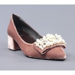 Zapatos nude perlas.60241