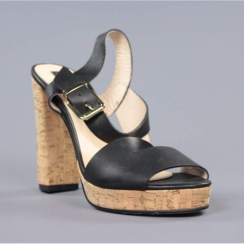 zapatos de temperamento en stock última moda Sandalia tacón corcho.18he6