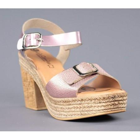 Sandalias plataforma rosas.79901