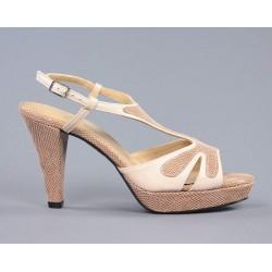 sandalias de piel color nude.9072