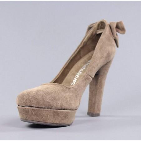 Xti zapatos tacón taupe.t1
