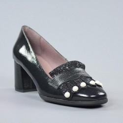 Zapatos perlas negros.18162