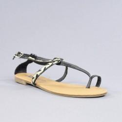 Sandalia dedo negra xti. psxt29