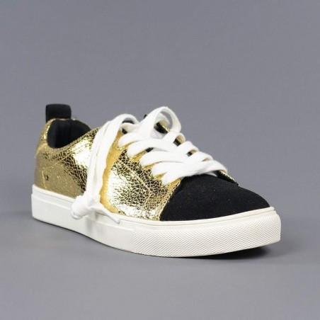 Zapatilla dorada y negra xti.xv24