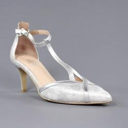 Zapatos puntera plata .1763