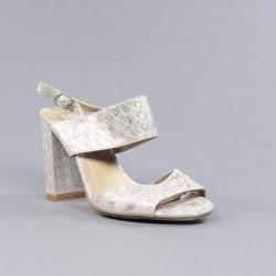 xti tacón sandalia dorada.37sx13