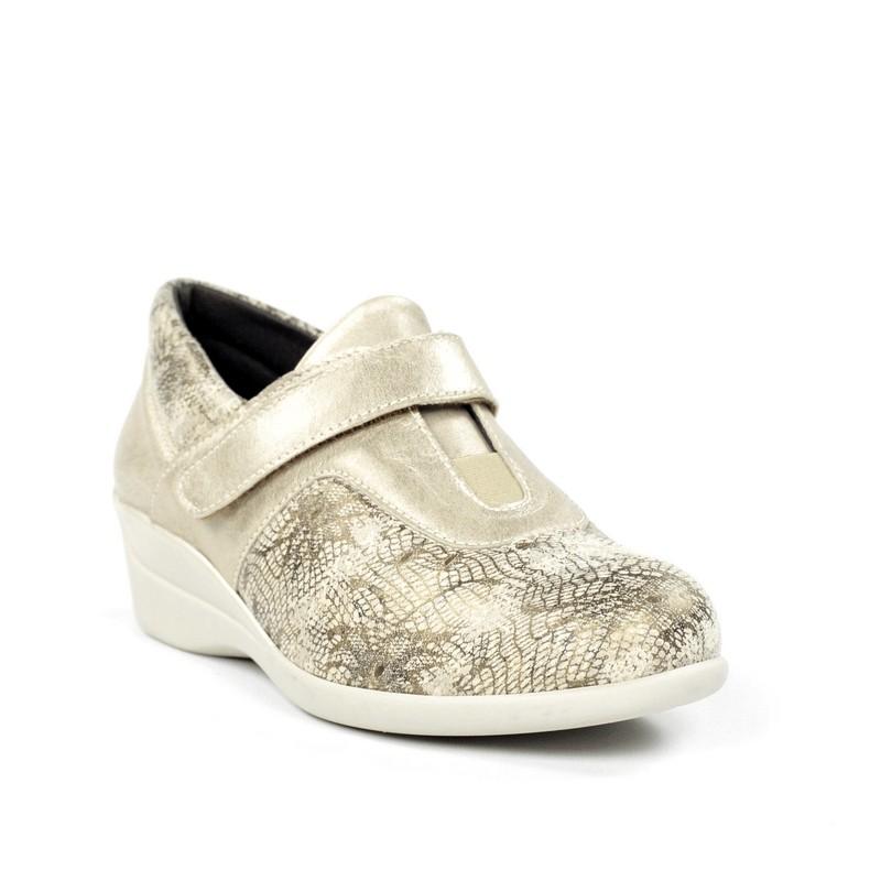 Zapato dorado plantilla extraíble.7801