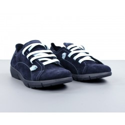 Zapatos azules cuña.096