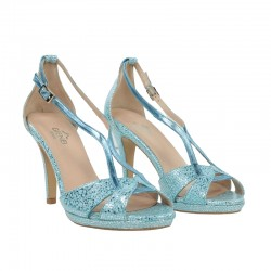 Sandalia azul turquesa.01131tr