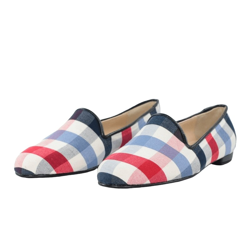 Outlet zapatos planos cuadros jon josef slippers.
