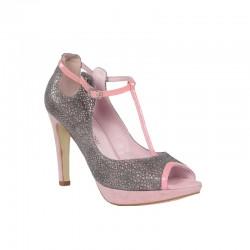 Sandalias plataforma mujer rosas.