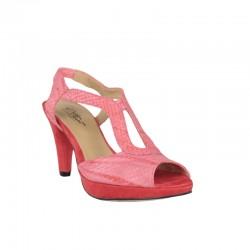 Sandalias plataforma mujer tonalidad naranja