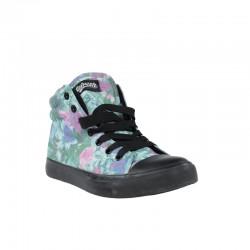 Zapatillas baratas refresh abotinadas tejido floral verde