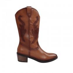 Botas altas de piel mujer cowboy