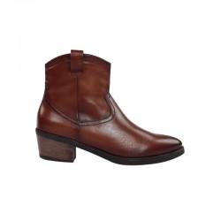 Ofertas botines mujer cowboy color cuero