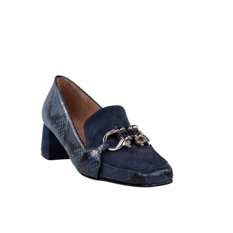 Outlet de zapatos mocasín azul miuxa