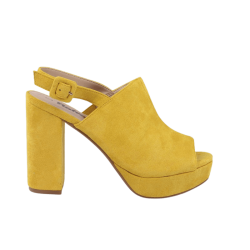 Sandalias plataforma tacón amarillas refresh
