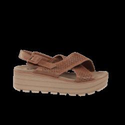 Sandalias confortables xti camel de cuña