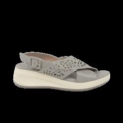 Sandalias confortables xti grises cuña