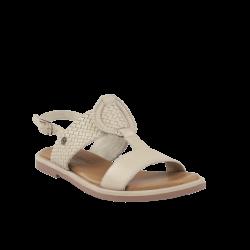 Sandalias mujer carmela planas beige