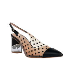 Zapatos de salón destalonados vinilo hannibal laguna