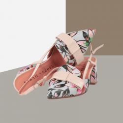 Zapatos de salón sarah verdel destalonados multicolor.