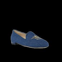 Zapatos planos mujer slippers azules jon josef