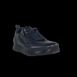 Zapatos mujer deportivas piel azul de calle