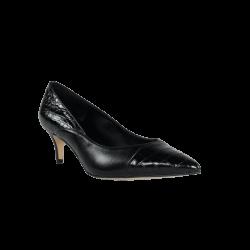 Zapatos de vestir mujer salones negros de piel